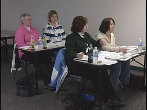 Staff from Good Samaritan Hospital in Merrill learn the STABLE program.