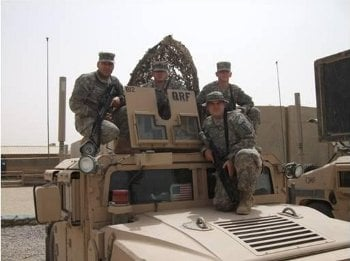 A quick reaction force (QRF) team from Watertown-based Bravo Troop, 105th Calvary.