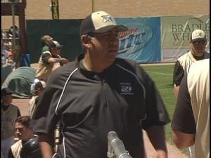 Guido Aspeitia is coaching his 1st season with the Woodchucks