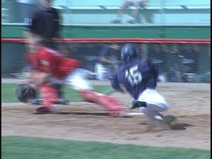 Tyler Schaefer scores in the 3rd inning for Wausau Post 10