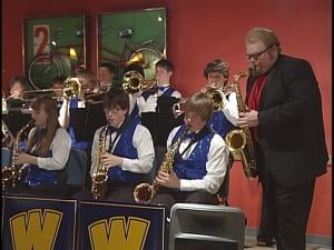 James Kittel with the Wausau West Jazz Band