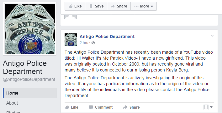 Antigo Police clear YouTube video
