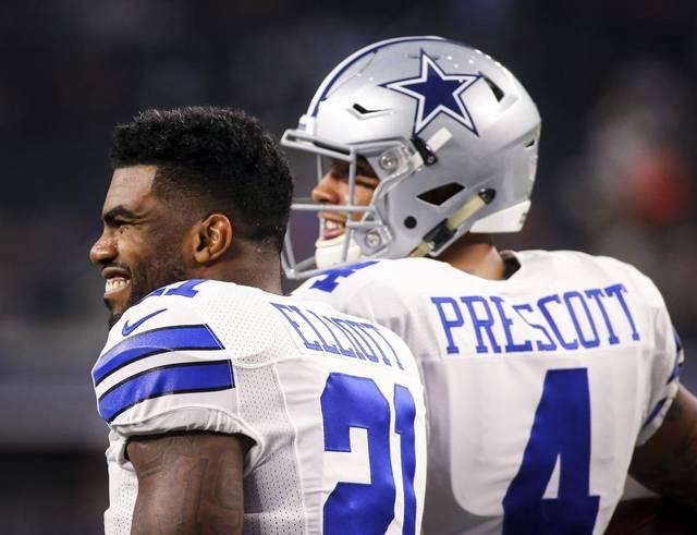 Cowboys' Ezekiel Elliott & Dak Prescott
