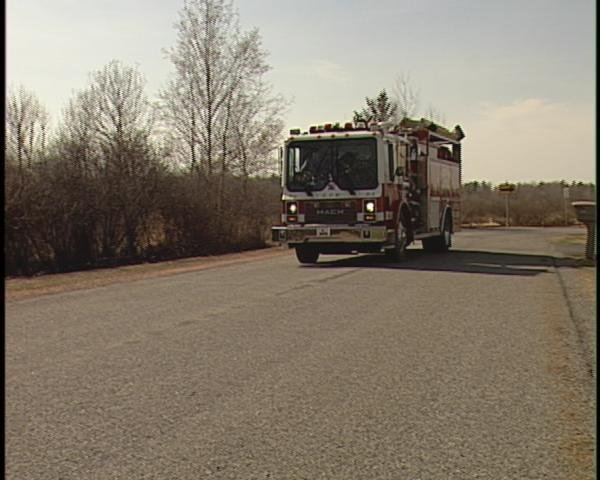 Kronenwetter fire crews leave the area at about 3:45pm Thursday