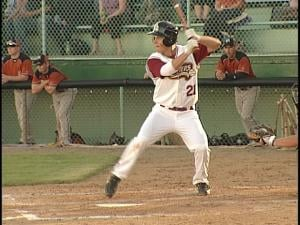 Pointer and now Rafter Justin Jirschele bats for Wisconsin Rapids during the team's first game at Witter Field