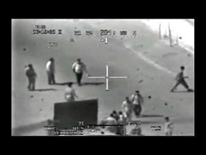 Frame grab image from classified US military gun camera footage released by Wikileaks.org in April 2010