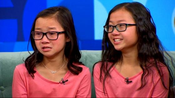 Identical twins separated to birth emotionally reunited