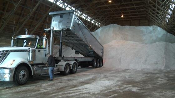 Toys For Trucks Wausau Wi : Marathon co highway department restocks salt supply