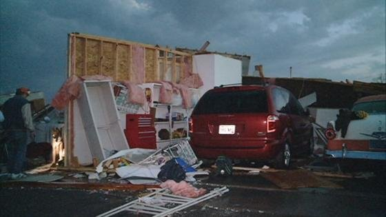 Damage from 2011 EF-3 tornado in Merrill.