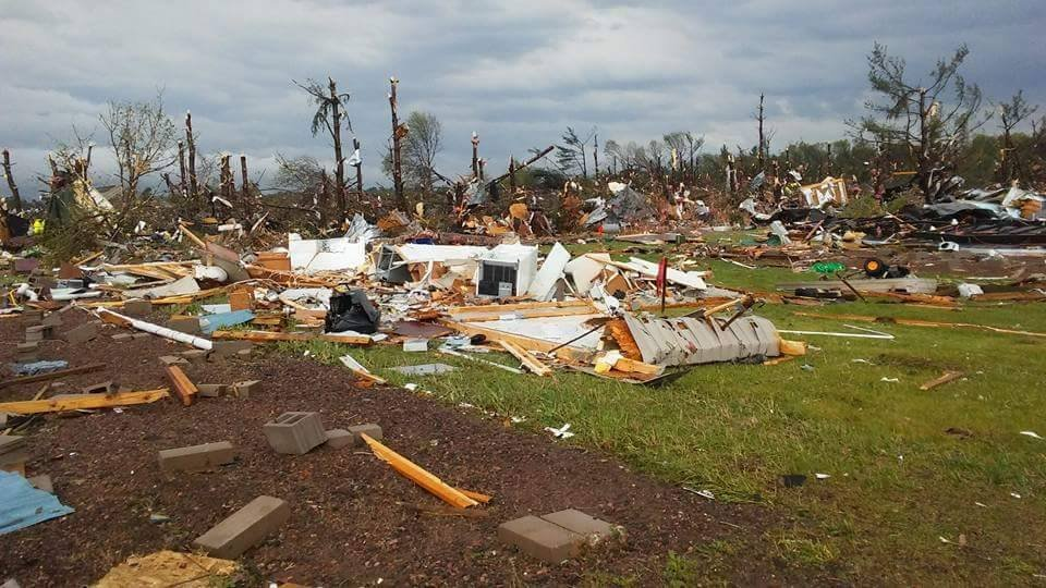 At least one killed as tornado tears though dozens of Oklahoma homes