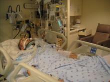 Tim Wissbroecker while hospitalized