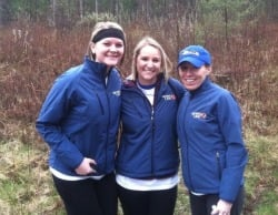 Cami Mountain, Courtney Fasano and Assistant News Director Kathy Reynolds walked 13.1 miles