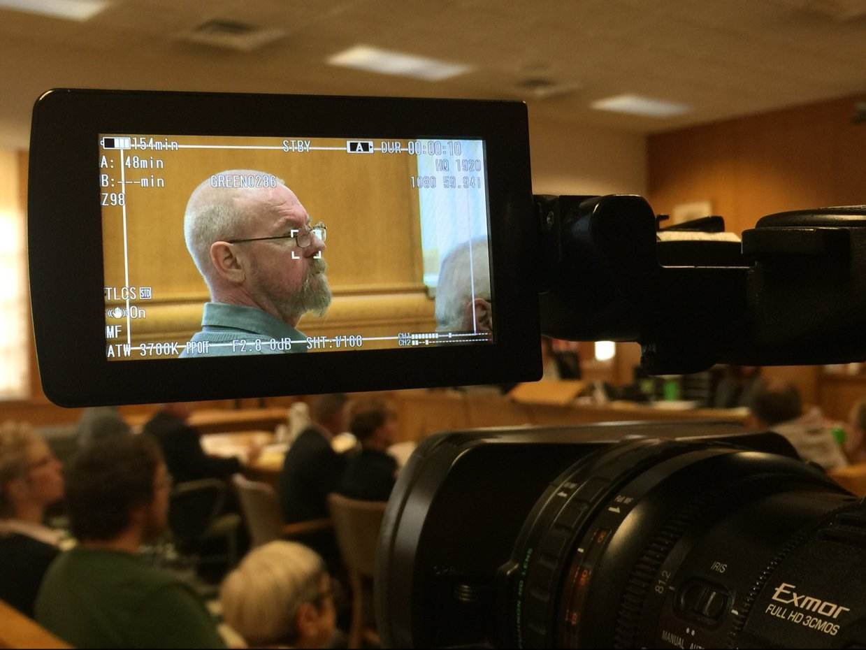 Mark Kusters on day one of his trial.