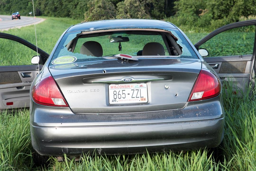 The car the suspects were in (Photo credit: Bureau of Criminal Apprehension)