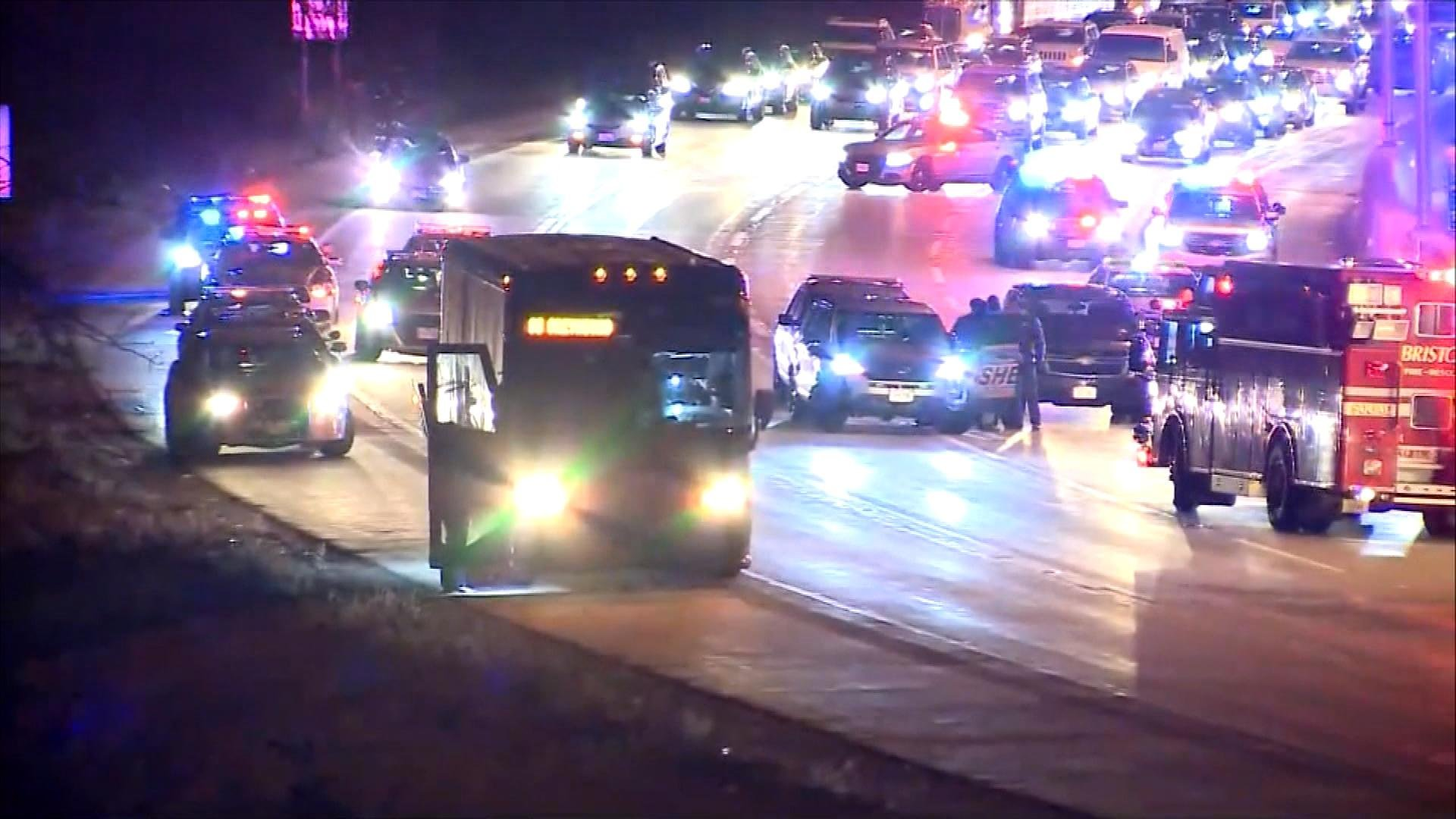 Armed man in custody following Greyhound bus police chase