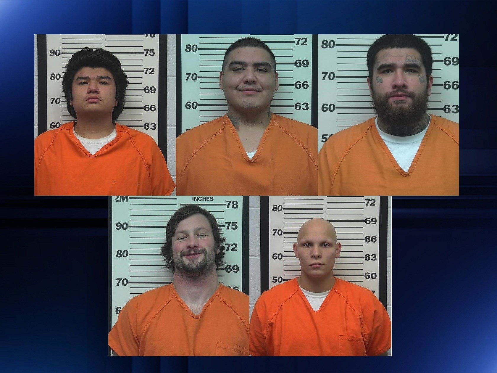 (Top Left) James Lussier, Curtis Wolfe, Joseph Lussier, (Bottom left) Evan Oungst and Richard Allen.