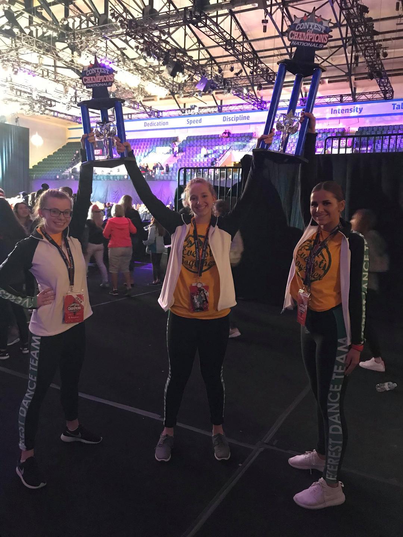 D.C. Everest Dance Team Seniors - Sierra Zeller, Cassie Wilke, Elizabeth Strehlow. Photo: Renee Buchholz