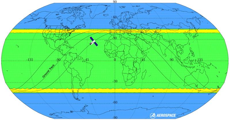 Aerospace Center for Orbital and Reentry Debris Studies map