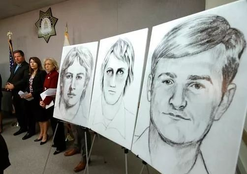 (AP Photo/Rich Pedroncelli, File). FILE - In this June 15, 2016, file photo, law enforcement drawings of a suspected serial killer believed to have committed at least 12 murders across California in the 1970's and 1980's are displayed at a news conference