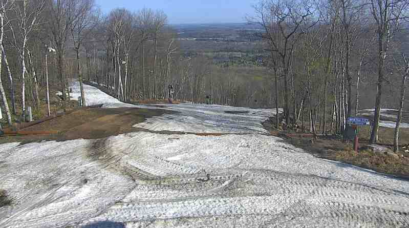 Looking from the top of Rib Mountain on May 7th