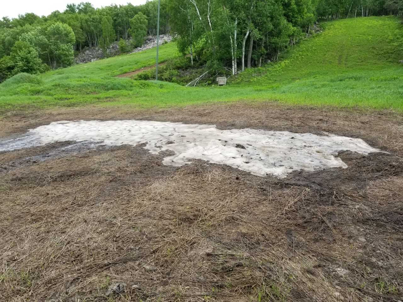 Remaining snow on June 3rd