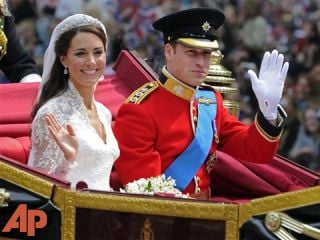 Britain's Prince William and his bride Kate, Duchess of Cambridge, leave Westminster Abbey following their wedding, April 29, 2011. (AP Photo/Tom Hevezi, File)