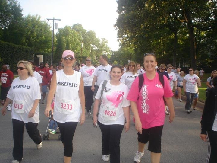 Jennifer participating in the 2011 Race for the Cure in Tyler, Texas