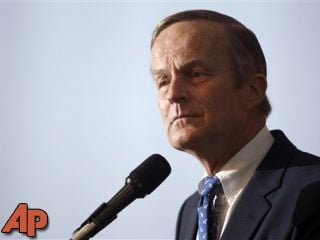 This May 17, 2011 file photo shows U.S. Rep. Todd Akin, R-Mo., announcing his candidacy for U.S. Senate, in Creve Coeur, Mo. (AP Photo/Jeff Roberson, file)