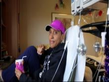 Robin Roberts on the day of her bone marrow transplant.
