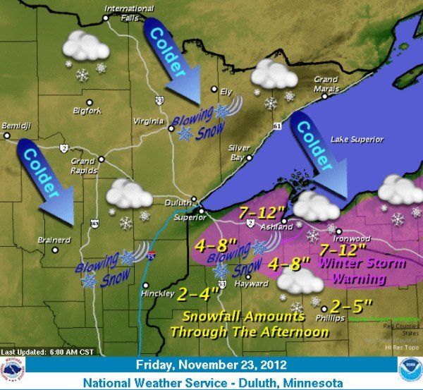 Courtesy: National Weather Service - Duluth