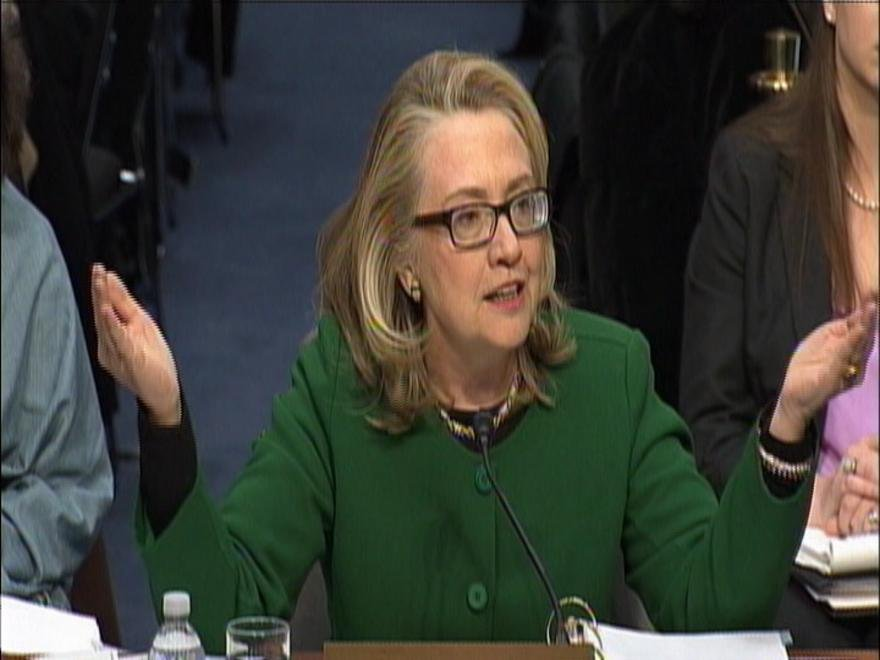 Secretary Clinton answers questions about the Benghazi attack during the Senate Foreign Relations Committee hearing.