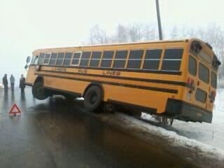 Viewer submitted photo of bus off Highway P courtesy of Brandon Helmer