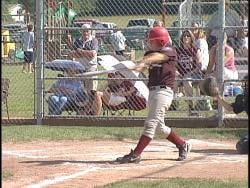 Antigo's Bryce Chrudimsky records an RBI double in the fourth inning.