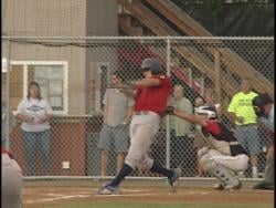 Alex Grunenwald connects for a two-run homer for Merrill