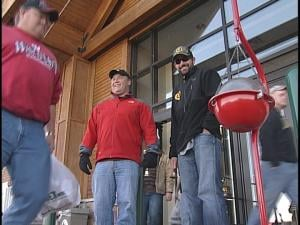 Scott Wimmer rang the bell for the Salvation Army from 11am-1pm Friday