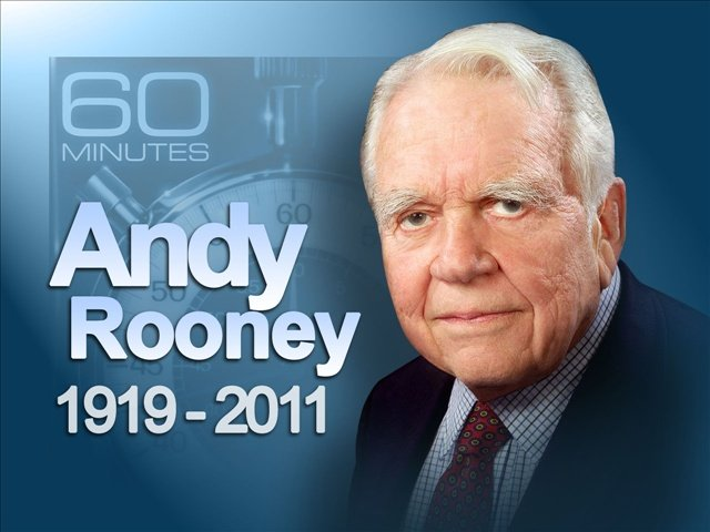 andy rooney last essay on 60 minutes Don't you hate when a fixture of the past several decades of your life comes to an end, reminding you of your own inexorable process of aging that will happen this sunday, when 60 minutes.