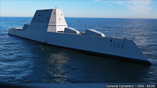 Navy Considers Electric Gun For A Zumwalt Class Destroyer