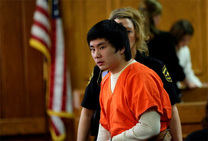 Yang enters court for sentencing on October 19, 2016. Courtesy Jacob Byk-USA TODAY NETWORK-Wisconsin